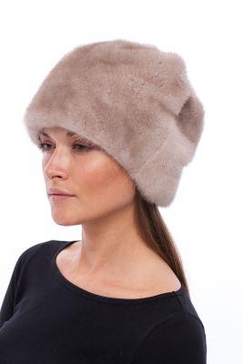 Audinės kailio kepurė Gėlytė, natural pearl