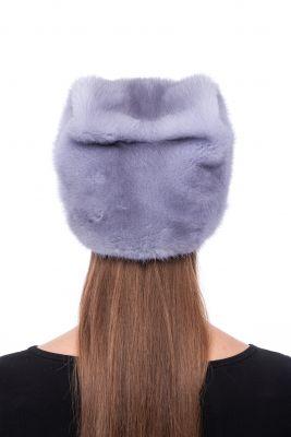 Audinės kailio kepurė Katinėlis, natūrali safir