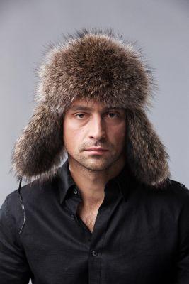 Bebro kailio ausinė kepurė juoda/meškėnas