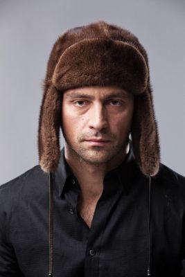 Ausinė audinės kepurė, ruda