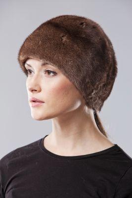 Audinės kailio kepurė ruda