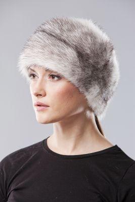 Audinės kailio kepurė Varpelis, juodai balta
