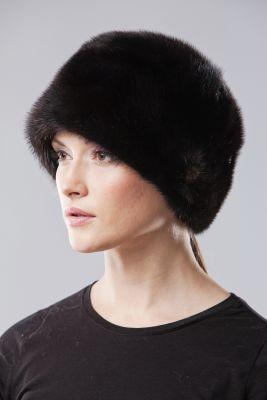 Audinės kailio kepurė Varpelis juoda