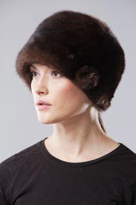 Audinės kailio kepurė Varpelis ruda