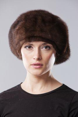 Audinės kailio beretė, ruda