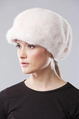 Audinės kailio beretė su snapeliu, gelsva