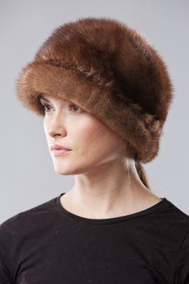 Audinės kailio skrybėlė France, ruda
