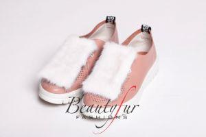 Batų aksesuaras iš audinės kailio