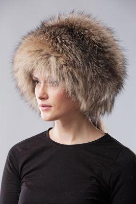 Lapės kailio apvali kepurė, smokie