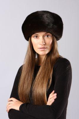 Audinės kailio beretė, juoda