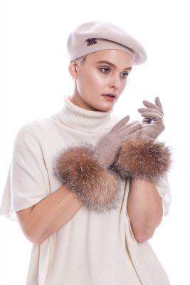 Vilnonė beretė gelsvos spalvos