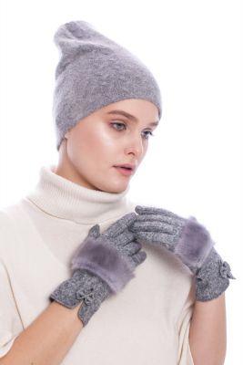 Vilnonė kepurė pilkos spalvos