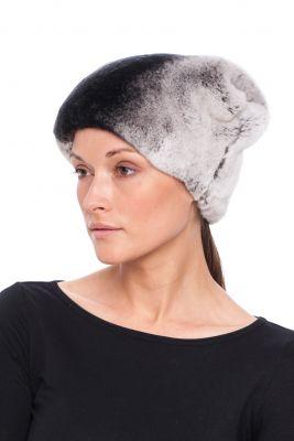 Rekso kailio kepurė Katinėlis, pilka 016