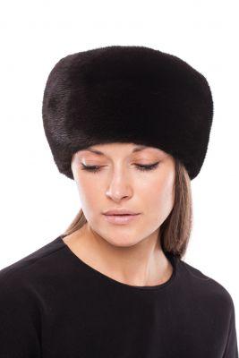 Audinės kailio kepurė Tabletė, juoda