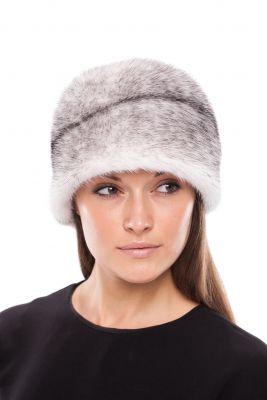 Audinės kailio kepurė Varpelis, balta