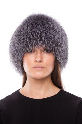 Megzta lapės kailio kepurė, frost