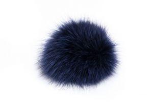 Lapės kailio bumbulas mėlynas