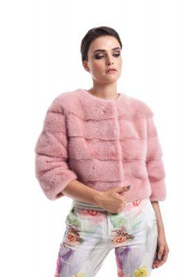 Audinės kailio puskailiniai rožinės spalvos