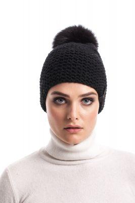 Megzta vilnonė kepurė su bumbulu